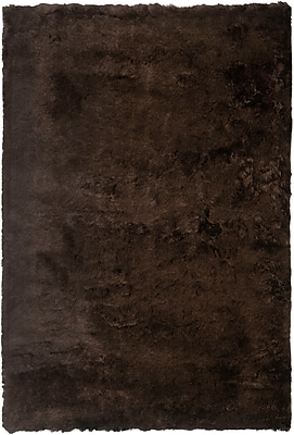 Safavieh Paris Shag Medium Rectangle Area Rug, 5' x 7', Chocolate