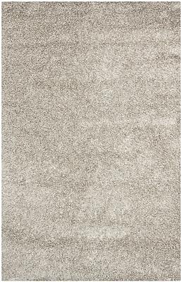 Safavieh Monterey Shag Medium Rectangle Area Rug, 6' x 9', Silver