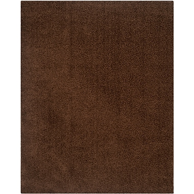 Safavieh Athens Shag Small Rectangle Area Rug, 4' x 6', Brown