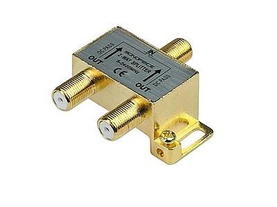 Monoprice® Premium F Type Screw 2 way Coax Cable Splitter