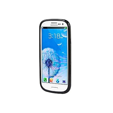 Monoprice® Polycarbonate Case With TPU Bumper For Samsung Galaxy S3, Charcoal/Black
