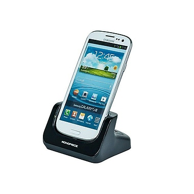 Monoprice® CaseDuo Charge & Sync Dock + 2nd Battery Cradle For Samsung Galaxy SIII