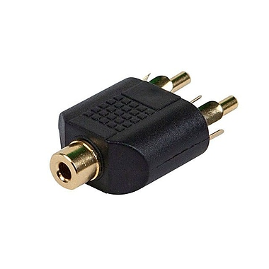 Monoprice® 3.5mm Stereo Jack to 2 RCA Plug Splitter Adapter, Black