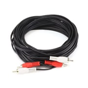 Monoprice® 25' 2-RCA Plug Male to Male Cable, Black