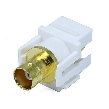Monoprice® Modular BNC Keystone Jack, White