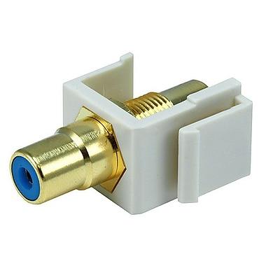 Monoprice® Modular RCA Keystone Jack With Blue Center, Ivory