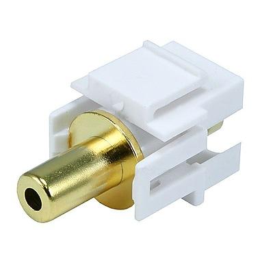 Monoprice® Flush Type 3.5 mm Stereo Keystone Jack, White