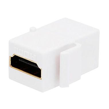 Monoprice® HDMI Female to Female Coupler Adapter Keystone Jack, White
