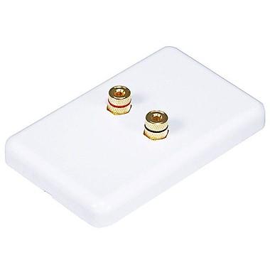 Monoprice® High Quality Banana Binding Post Wall Plate For 1 Speaker, White