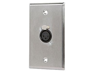 Monoprice® XLR Female 3 Pin One Port Zinc Alloy Wall Plate
