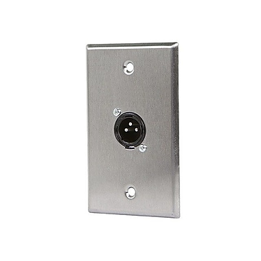 Monoprice® 1 Port XLR Male 3 Pin Zinc Alloy Wall Plate