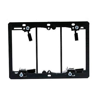 Monoprice® 107015 3-Gang Low Voltage Mounting Bracket, Black