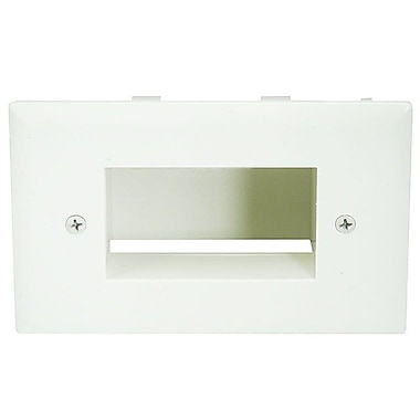 Monoprice® Low Voltage Cable Recessed Wall Plate, Lite Almond