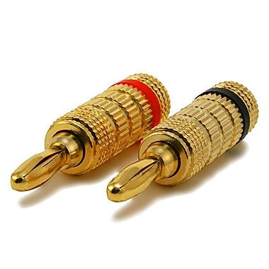 Monoprice® High-Quality Closed Screw Gold Plated Speaker Banana Plug