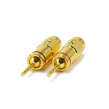 Monoprice® High-Quality Heavy-Duty Pin Crimp Type Gold Plated Speaker Pin Plug
