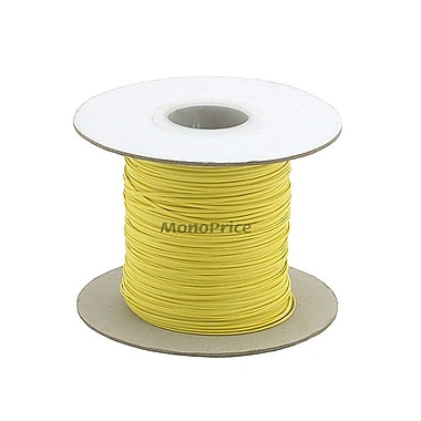 Monoprice® 290 m/Reel Wire Cable Tie, Yellow