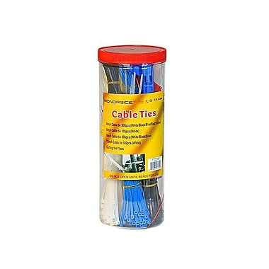 Monoprice® Cable Tie Set With Cutting Tool, Multi Color, 1000/Pack