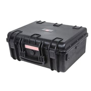"Monoprice® 18.86"" x 16.34"" x 8.54"" Weatherproof Polypropylene Case With Customizable Foam, Black"