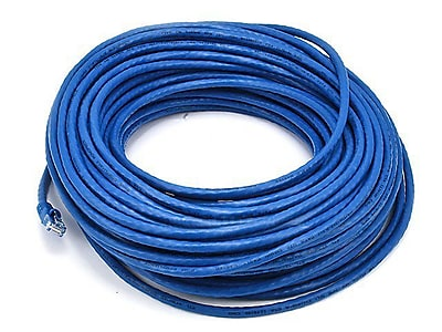 Monoprice® 100' 24AWG Cat5e UTP LC Male to Male Ethernet Network Cable, Blue