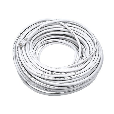 Monoprice® 100' 24AWG Cat5e UTP LC Male to Male Ethernet Network Cable, White