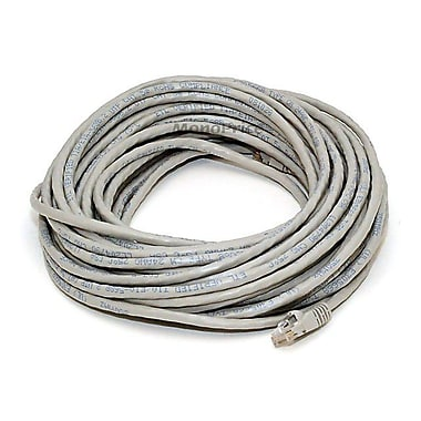 Monoprice® 50' 24AWG Cat5e UTP Crossover Ethernet Network Cable, Gray