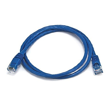 Monoprice® 3' 24AWG Cat5e UTP Ethernet Network Cable, Blue