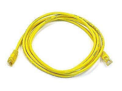 Monoprice® 7' 24AWG Cat5e UTP Ethernet Network Cable, Yellow
