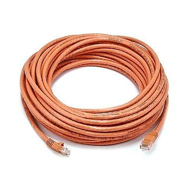 Monoprice® 50' 24AWG Cat5e UTP Ethernet Network Cable, Orange