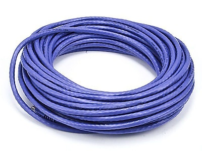 Monoprice® 50' 24AWG Cat5e UTP Ethernet Network Cable, Purple