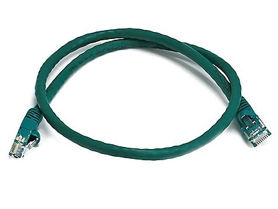 Monoprice® 2' 24AWG Cat5e UTP Ethernet Network Cable, Green
