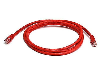 Monoprice 103381 5' CAT-5e Ethernet Network Cable, Red