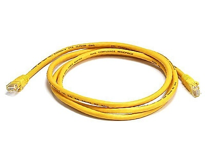Monoprice 103383 5' CAT-5e Ethernet Network Cable, Yellow