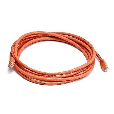 Monoprice® 10' 24AWG Cat5e UTP Ethernet Network Cable, Orange