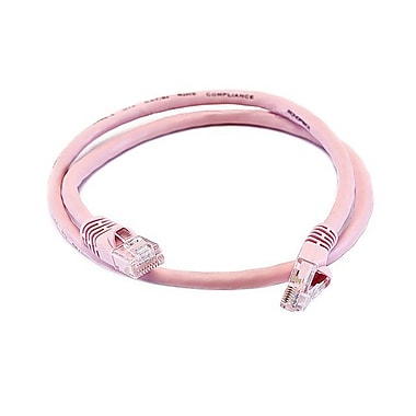 Monoprice® 2' 24AWG Cat5e UTP Ethernet Network Cable, Pink