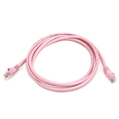 Monoprice 103712 5' CAT-5e Ethernet Network Cable, Pink