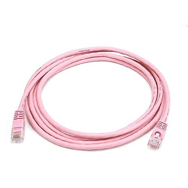 Monoprice 103713 7' CAT-5e Ethernet Network Cable, Pink