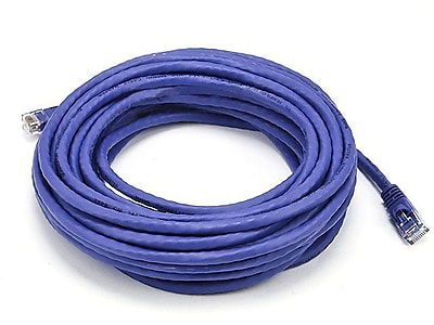Monoprice® 30' 24AWG Cat5e UTP Ethernet Network Cable, Purple