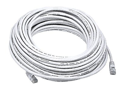 Monoprice® 75' 24AWG Cat5e UTP Ethernet Network Cable, White