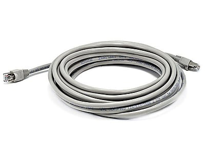 Monoprice® 25' 24AWG Cat5e STP Ethernet Network Cable, Gray