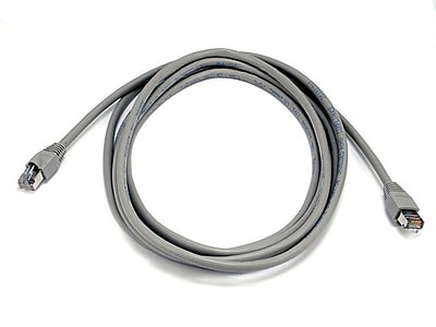 Monoprice® 10' 24AWG Cat5e STP Ethernet Network Cable, Gray