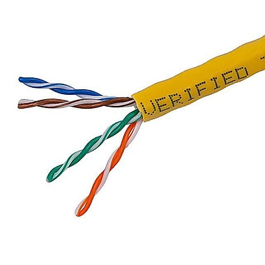 Monoprice® 1000' 24AWG Cat5e UTP Solid Bulk Ethernet Cable, Yellow