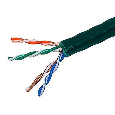 Monoprice® 1000' 24AWG Cat5e UTP Stranded Bulk Ethernet Cable, Green