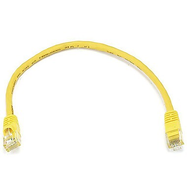 Monoprice® 1' 24AWG Cat6 UTP Ethernet Network Cable, Yellow