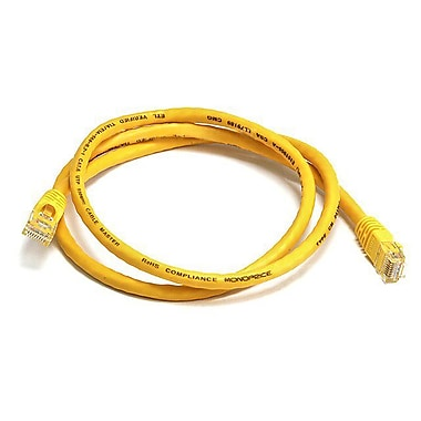 Monoprice® 3' 24AWG Cat6 UTP Ethernet Network Cable, Yellow