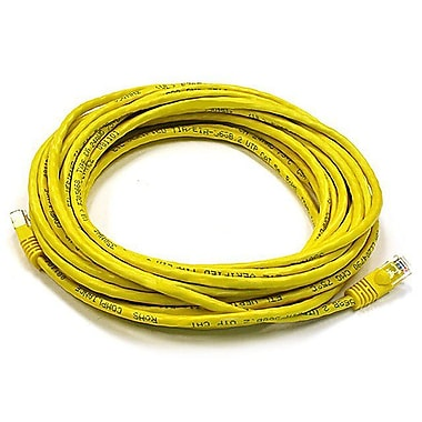 Monoprice® 25' 24AWG Cat6 UTP Ethernet Network Cable, Yellow