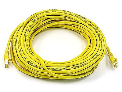 Monoprice® 50' 24AWG Cat6 UTP Ethernet Network Cable, Yellow