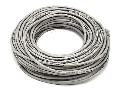 Monoprice 102328 100' 24-AWG CAT-6 UTP Ethernet Network Cable, Gray