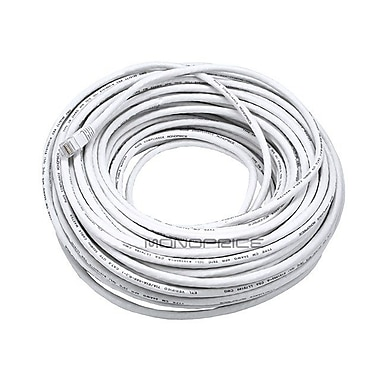 Monoprice 102333 100' 24-AWG CAT-6 UTP Ethernet Network Cable, White