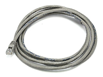 Monoprice® 7' 24AWG Cat6 Crossover Ethernet Network Cable, Gray
