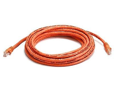Monoprice® 14' 24AWG Cat6 UTP Ethernet Network Cable, Orange